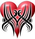 Extreme Tribal Tattoo Heart Design