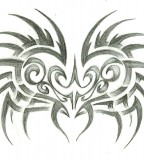 Tribal Winged Heart Tattoo Art Images