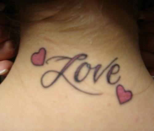 Nice Heart Love Tattoo Couple On Hand