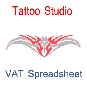 Tattoo Amp Body Piercing Studio Accounting Spreadsheet Easy