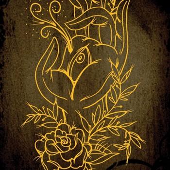 Golden Flower Tattoo And Piercing