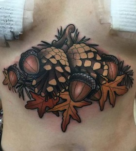 pinecone-and-acorn-autumn-tattoo