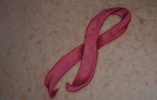 Stunning Cancer Ribbon Tattoos