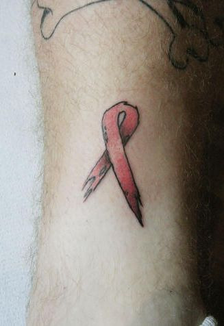 Get A Pink Ribbon Tattoo for The Cancer Society