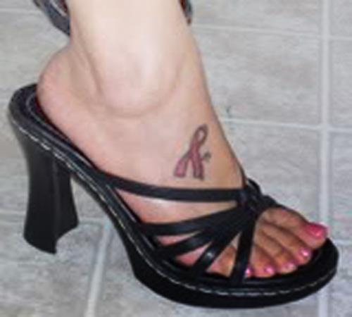 Foot Tattoo Ideas Symbol Pink Ribbon