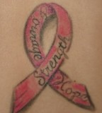 Meaningful Pink Ribbon Tattoo