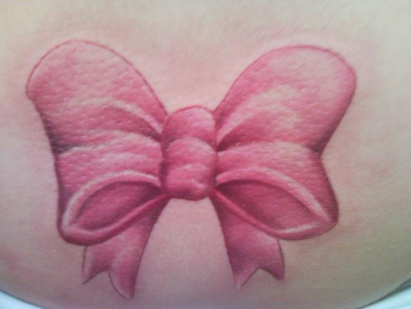 Pink Ribbon Tattoo Design Ideas for Girls