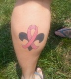 Interesting Pink Ribbon Tattoo