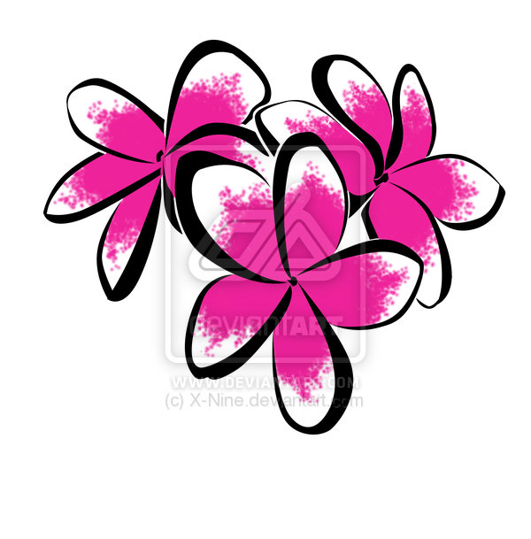 Simple Plumeria Tattoo Sketch By Xnine