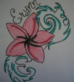 Plumeria Tattoo Sketch Design By Souleatergirl