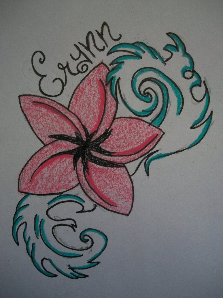 Plumeria Tattoo Sketch Design By Souleatergirl