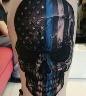 police-skull-tattoo