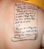 Awesome Bible Verse Tattoos Images