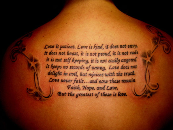 Popular Exotic Bible Verse Tattoos Images GAllery