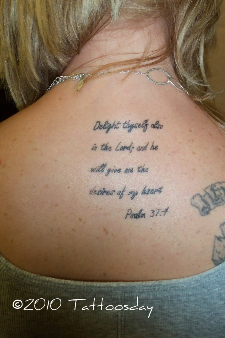 Popular  Bible Quote Tattoos For girls