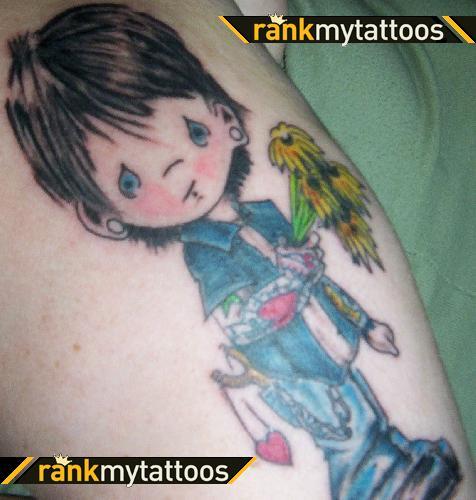 Emo Punk Precious Moments Boy Girly Tattoo