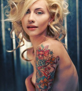 pretty arm sleeve tattoos for women