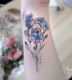 pretty-flower-tattoo