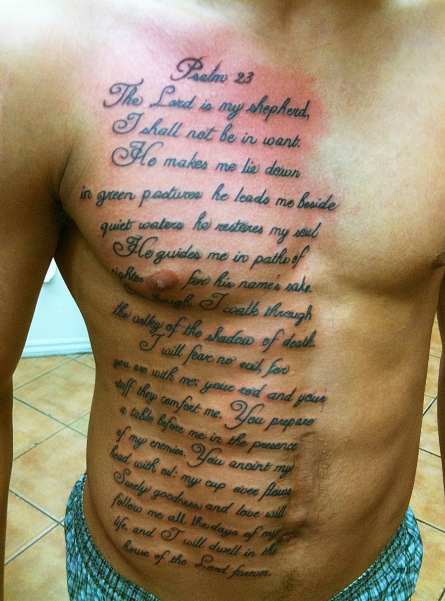 Psalm 23 Free Download Tattoo 14463 Rich Royalty Custom Tattoos