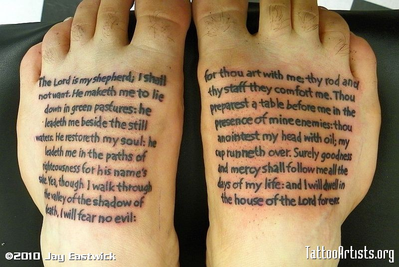 psalm 23 tattoos pictures to pin on pinterest tattooskid. Black Bedroom Furniture Sets. Home Design Ideas