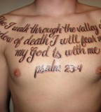 Psalm 234 Tattoo Picture At Chest