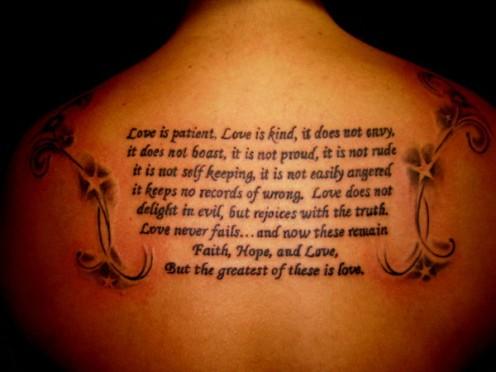 Tattoo Ideas Bible Verses