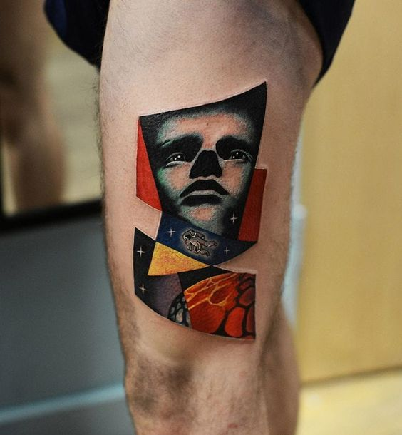 psychedelic art tattoo
