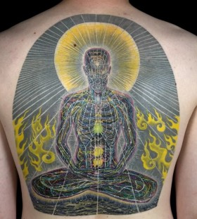 psychedelic back piece