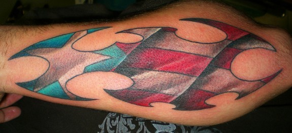 Amazing Puerto Rican Flag Tribal Tattoo Design