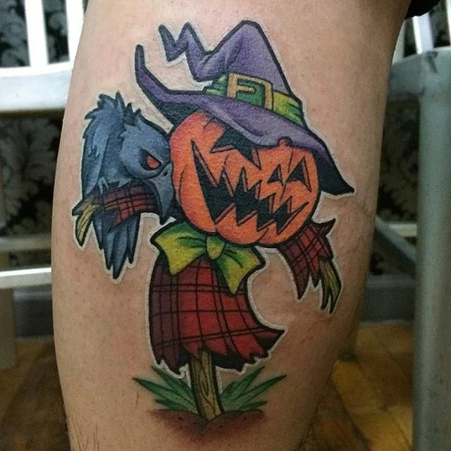 pumpkin-scarecrow-halloween-tattoo
