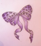 Soft Purple Leopard Print Tattoo Photo
