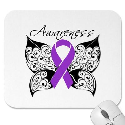 Tattoo Butterfly Awareness Alzheimers Disease Mousepad