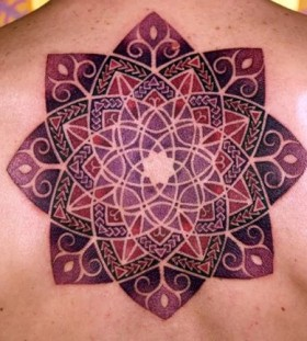 purpleviolet mandala tattoo