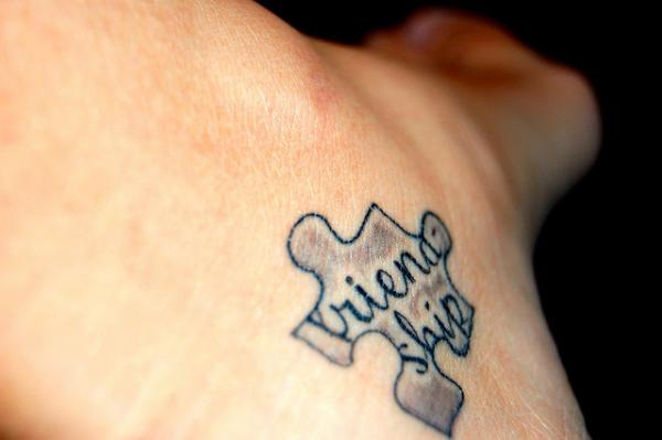 Meaningful Friendship Inside Puzzle Piece Tattoo For Girls