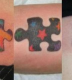 Various Colors and Themes for Puzzle Pieces Tattoo Design