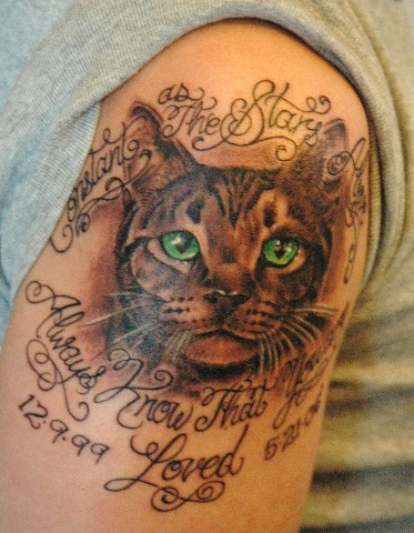 Cat Quarter SleeveTattoo Ideas
