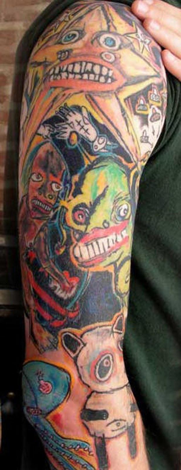Cartoon Tattoo Shoulder – Arm Ideas