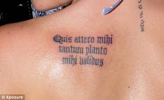 Latin Tattoo Quotes Design For Girls