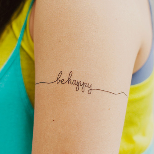 Optimistic Quotes Sayings Happy Tattoos Arm Girls