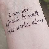 Beautiful Brave Quote Tattoo on Wrist