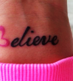 Cute Tattoo Black Wrist Quote For Girls