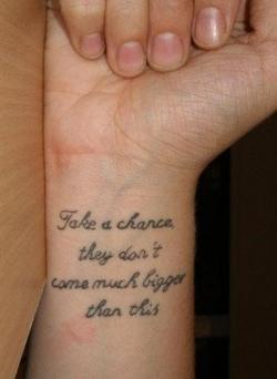 Literary Quotes Tattoo on Wrist