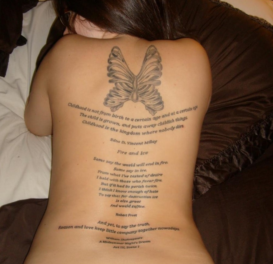 Cool Tattoo Quotes For Girls on Back