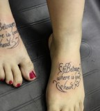 Awesome Quote Tattoo Wallpaper On Foot