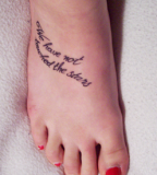 Richard Siken Quote Foot Tattoo Design