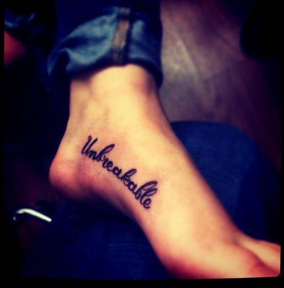 Picture Of Inspirational Quotes For Foot Tattoo