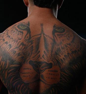 Brock Lesnars Upper Back Tattoo Design