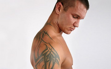Randy Orton Sleeves Tattoo View from Side
