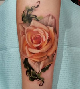 realistic rose flower tattoo