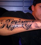 Respect And Loyalty Ambigram Arm Tattoos For Men Slodiv